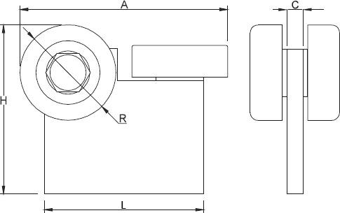 Rysunek techniczny - wózek WB3 do bramy podwieszanej